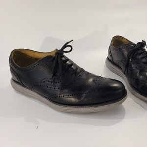 Cole Haan Grand.Os Mens Black Leather Dress Shoes